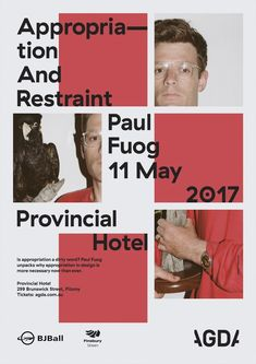"""""""Appropriation And Restraint"""" lecture poster - Fonts In Use  #appropriation #fonts #lecture #poster #restraint"""