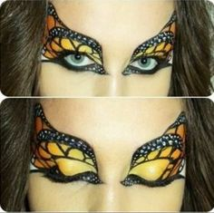 Butterfly makeup-will look GREAT w/the Monarch butterfly costume I have saved in favs