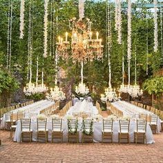 How unbelievable is this reception setup.  Like a fairy tale. Hanging Wedding Decorations - 2015 Wedding Trends and Ideas