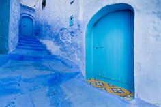 Doors and Stairs in Chefchaouen - Morocco by Beum เบิ้ม Portƒolio, via Flickr