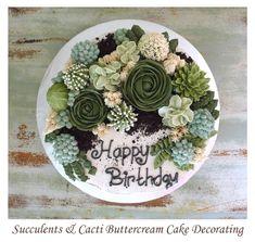 Savory magic cake with roasted peppers and tandoori - Clean Eating Snacks Succulent Wedding Cakes, Succulent Cupcakes, Buttercream Cake Decorating, Cactus Cake, Cactus Food, Cake Design Inspiration, Pecan Cake, Gateaux Cake, Zucchini Cake