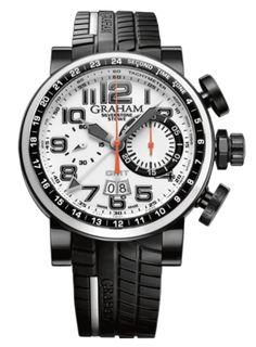 Graham - Silverstone Stowe GMT Black & White | EMWA - Relojes Cartier, Hublot, IWC y más joyería de lujo.