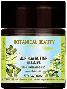 MORINGA BUTTER OIL 100  Natural  VIRGIN UNREFINED BLEND  100 PURE BOTANICAL 4 Floz 120 ml For Skin Hair and Nail Care * Check this awesome product by going to the link at the image.