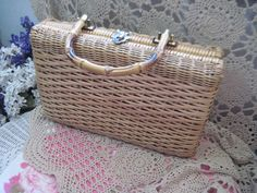 Wicker Purse by Daysgonebytreasures on Etsy