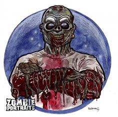 Mr. Clean Zombie : Corporate Mascots of the Living Dead - Zombie Art by Rob Sacchetto