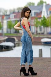 Coral Pop   Overalls Obsessions