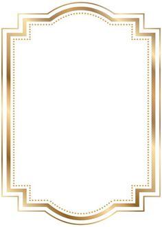 Border Frame Gold Transparent Clip Art