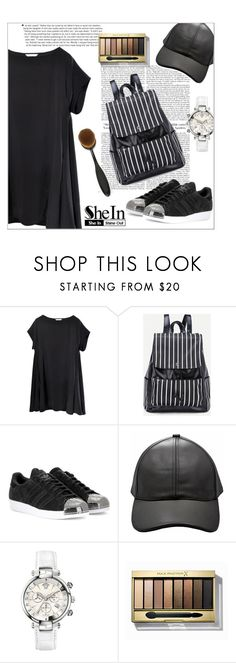 """Untitled #608"" by valenouladls ❤ liked on Polyvore featuring adidas, Versace and Max Factor"