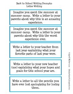 Made It Monday Back To School Writing Prompts  Writing