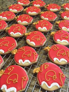 Descendants Party Apple Cookies by AngeLfood on Etsy