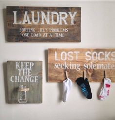 Laundry room signs. So cute.
