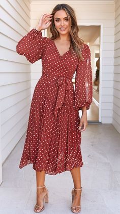Nalabay Casual V-Neck Floral Long-Sleeved Dress – jollyluva dress cute cute dresses for summer cute dresses casual dresses cute casual Simple Dresses, Elegant Dresses, Casual Dresses For Women, Sexy Dresses, Cute Dresses, Vintage Dresses, Beautiful Dresses, Dresses For Work, Summer Dresses