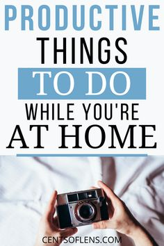 Do you want to learn how you can productive when you're cooped up at home? Find out what productive things you can do while you're at home! #productivity #productivityhacks #productivehabits #productivitytips #getstuffdone #lifehacks