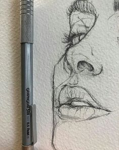 Love the rawness of ghis illustration sketches, drawing sketches, portrait sketches, sketch art Pencil Art Drawings, Art Drawings Sketches, Cool Drawings, Drawing Faces, Realistic Drawings, Sketches Of Faces, Sketches Of People, Nose Drawing, Drawing People Faces