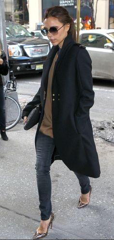 Victoria Beckham, un peu plus casual pour la Fashion Week de NY le 12 février