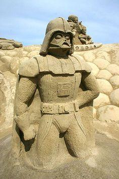 Star Wars Sand Sculpture ... Darth Vader