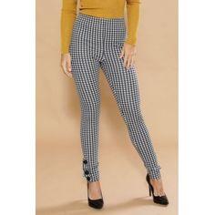 754d20a67d74 USD9.99 Trendy Mid Waist Black-white Grid Polyester Pants Wholesale Shoes