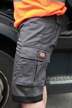 Details about Emerton Mens Cargo Work Shorts Grey With Orange Trim ...