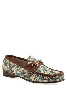Gucci   'Roos' Paisley Bit Loafer #gucci #loafers