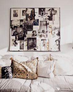 We love collages and mood boards – they are such an inspirational interior feature! By coordinating pictures of similar style, period or colour palette you can create beautiful boards that are like pieces of art in themselves. We especially love the use of vintage fashion photographs in this image.