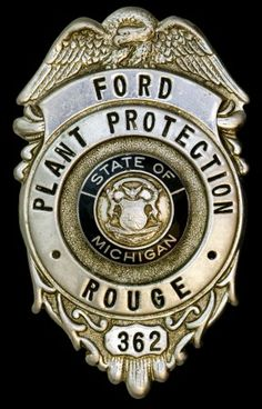 Ford Plant Security Guard Badge