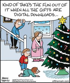 Christmas disappointment - Off the Mark by Mark Parisi. December 25, 2015