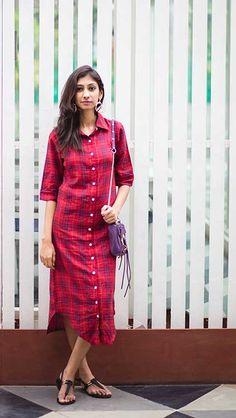 Indian fashion blog   Shirt dresses   Missa More shirt dress   Red midi shirt dress   The girl at first avenue   Indian fashion blog