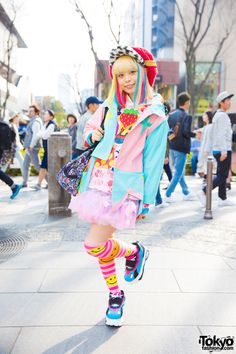 "kawaii / decora Harajuku fashion icon Haruka Kurebayashi (aka ""90884""), model (formerly for KERA Magazine), indie fashion designer, vocalist for rock band MJR-Cookie 