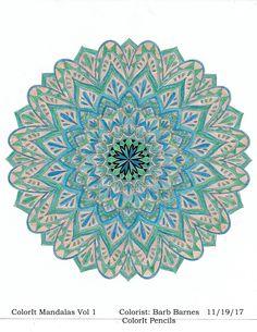 ColorIt Mandalas to Color Volume 1 Colorist: Barbara Barnes #adultcoloring #coloringforadults #mandalas #mandalastocolor