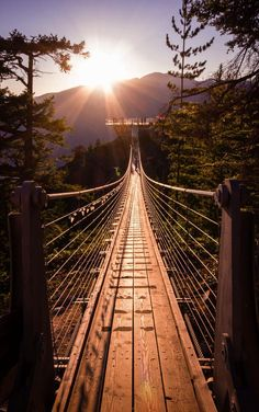 Sky Pilot Suspension Bridge by kohendormer Photo Awards, Suspension Bridge, Gothic Architecture, Tumblr Wallpaper, Wallpaper Wallpapers, Historical Sites, Paths, Egypt, Beautiful Places