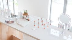 Summer Fridays Are Beautiful at the Glossier Pop-Up Shop Glossier Pop Up, Glossier Launch, Store Window Displays, Retail Displays, Shop Displays, Visual Merchandising Displays, Retail Store Design, Retail Stores, Vintage Light Fixtures