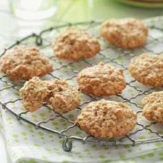 Oatmeal Cookies  I love the chewiness of these cookies!  I substitute honey for the corn syrup and add a cup of craisins. The recipe I have calls for 2 eggs.
