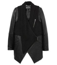 Jetsetter Chic at #ShopBAZAAR: Yigal Azrouel Black Shearling Leather Jacket