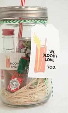 Mason Jar Bloody Mary Gift and spice mix recipe!