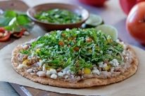 Our Mexican Tostadas is carefully crafted to make your next meal time extraordinary. Get the step by step instructions to make this delicious dish. Mexican Tostadas, Corn Tortilla Recipes, New Recipes, Dinner Recipes, Gluten Free Tortillas, Recipe Finder, Food Reviews, Yummy Snacks, Tasty Dishes