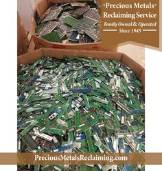 Monday morning electronic scrappin' at Precious Metals Reclaiming Service  #scrap #gold  http://preciousmetalsreclaiming.com/