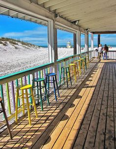 Waiting for customers at the Palm Pavilion, a local institution on Clearwater Beach, via Flickr.