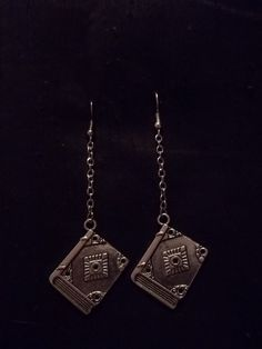 Book Lover Earrings by CellDara on Etsy, $8.00
