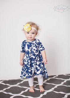 T-shirt dress Cotton dress Birthday Gift Knit dress by TiedByTi