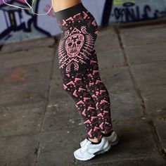 Pink Guns & Skulls...would you wear them? Or know someone that  would?  Grab a pair here >  lushgothic.com/products/pink-gun-skull-leggings lushgothic.com/products/pink-gun-skull-leggings #The_Goth_Life #goth #gothic #dark #vampire #werewolf