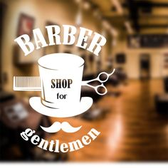 Barber Shop Wall Sticker scissors decal sign door art hair graphic bb3 in Business, Office & Industrial, Retail & Shop Fitting, Signs | eBay
