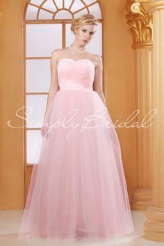 #85157 - Floor-Length Surplice Tulle Dress - Simply Bridal