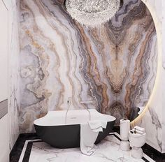 Gorgeous Marble Bathroom Design Ideas - The Wonder Cottage Interior Desing, Luxury Interior, Interior Styling, Interior Inspiration, Bathroom Inspiration, Bathtub Surround, Ikea, Quirky Decor, Marble Wall