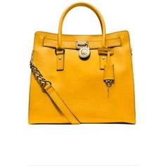 New still in original Michael Kors wrapping Hamilton Lg NS Tote in sun.  Its a beautiful golden yellow thats the perfect pop of color to any outfit.  Saffiano …