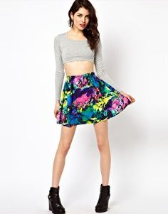 #asos                     #Skirt                    #Reverse #Skater #Skirt #Neon #Abstract #Print #asos.com                      Reverse Skater Skirt In Neon Abstract Print at asos.com                                                 http://www.seapai.com/product.aspx?PID=1352289