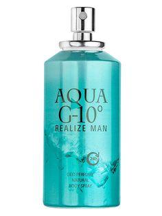 Deodorant spray AQUA G10 - 150 ml - Parfum deodorant. Pentru prospetime si confort. 24 de ore - protectie impotriva transpiratiei. Parfumul puternic revigorant persista mult timp. Esente de parfumuri frantuzesti. Extra concentratie de parfum. Nu lasa urme pe haine. Testat dermatologic. Aqua, Body Spray, Vodka Bottle, Shampoo, Fragrance, Water