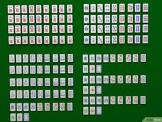"How to Play Mah Jongg. Mah Jong is a game that is similar to Rummy, but it is played with tiles instead of cards. The object of the game is to create melds until you can go out, or go ""Mah Jongg!"" A game of Mah Jongg features 16 rounds and. Fun Card Games, Fun Games For Kids, Games To Play, Dice Games, Family Game Night, Family Games, Mahjong Online, Tiles Game, Wood Toys Plans"