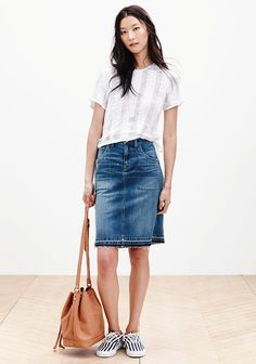 "See Every Piece From Madewell's Spring '15 Collection: According to head of design, Somsack Sikhounmuong, Madewell Spring '15 is all about ""returning to the classics, the things you love and come back to"" — or in our case, the things we wish we had and need to shop when the line debuts next year."