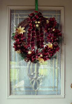 Burgundy and Gold Christmas Wreath, Grapevine Christmas Wreath, Elegant Christmas Wreath, Victorian Christmas Decor, Floral Christmas Wreath