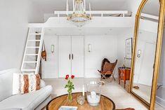 Estudio de 34 m² con cama el altillo y estilo femenino – Virlova Style
